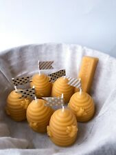 100% Pure Beeswax Candles, Beehive Candle Design
