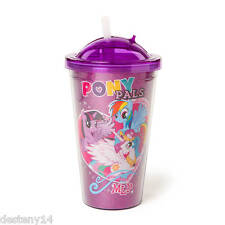 My Little Pony Girl's Pony Pals Glitter Cup with Straw One Size New