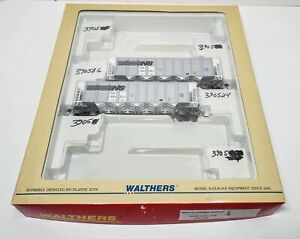 Walthers HO Scale RD4 Coal Hoppers with Box Norfolk Southern 932-7802