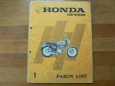 HONDA PARTS LIST CB125B6 1974 NO 1  MOTORCYCLE MOTORRAD CB 125 B6 A