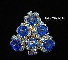 BLUE FLORETTE earlier STANLEY HAGLER CHRISTMAS TREE PIN