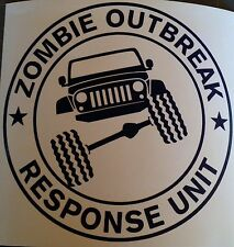 Zombie Outbreak Response Unit - Jeep JK -  Custom vinyl sticker / decal