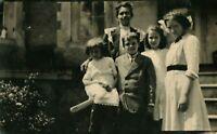 Antique (1913) El Oro, Mexico Mother & Children Portrait Real Photo Postcard