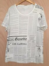 ORIGINAL JOHN GALLIANO Mens Casual Short-Sleeve Tee T-Shirt XL - ITALY
