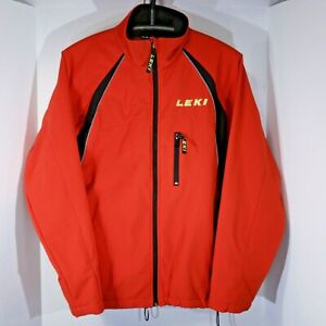 LEKI Nordic Cross Country Ski Jacket, Red, Women's L Large, Polyester, Exc Cond!