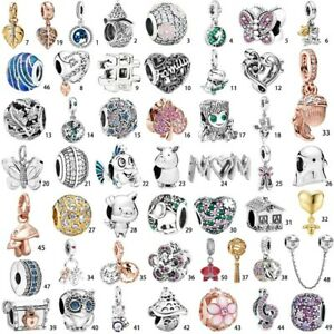 New Leaf S925 Silver Charms Bead dangle Pendant For silver Bracelet Bangle Chain