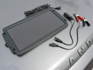 Solar Auto Charger Panel 2.4w Battery Charger Maintainer Caravan / Motorhome Car