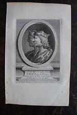 LOUIS III ET CARLOMAN ROI DE FRANCE . PORTRAIT, GRAVURE ORIGINALE , 1760