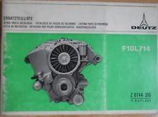 Deutz Motoren F 10 L  714 Ersatzteilliste