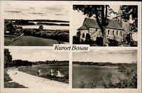 Bosau am Plöner See s/w Mehrbild AK ~1950/60 gelaufen Kirche Panorama Strand u.a