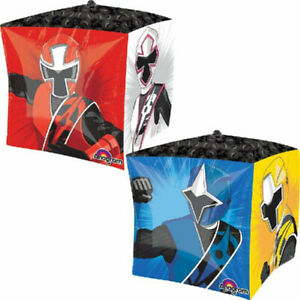 Power Ranger NINJA STEEL Cubez Balloon Boys Birthday Party Decoration Supplies