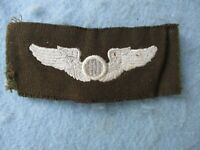 WWII US Air Corps Observer Wings Embroidered Class A AAF WW2