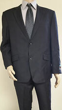 Men's Premium Quality Solid Black Modern Fit Dress Suits Brand New Suit 44 R