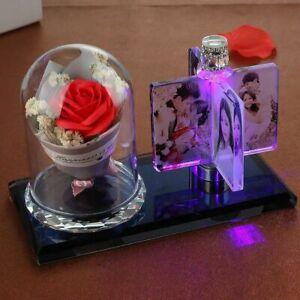 Personalized Photo Frame Custom Light Gift Wedding Decor Pictures Souvenir Glass