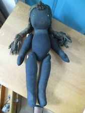 Hand Made Black Americana Cloth Doll with Movable Arms and Legs
