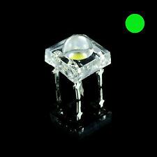 10 X Piranha Verde 5mm Lampadina LED Super Flux