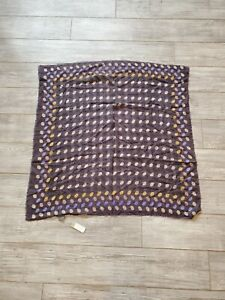 $252 NWT Épice Square Scarf Purple with Colorful accents
