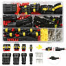 352pcs Waterproof Connectors 1/2/3/4 Pin Car Electrical Wire Connector Plug