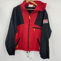Vintage 90s Marlboro Adventure Team Windbreaker Size Large Red Black with Patch
