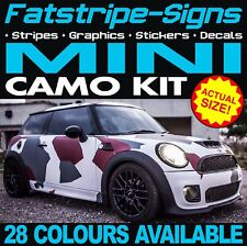 MINI CAMO GRAPHICS STICKERS DECALS BONNET ROOF ONE COOPER S R50 R56 F56 JCW 1.6