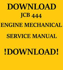 JCB 444 ENGINE MECHANICAL SERVICE MANUAL DOWNLOAD