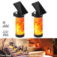 Outdoor Solar Light LED Dancing Flame Flickering Lamp Waterproof Garden Decor