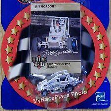 NASCAR Jeff Gordon 1/64 Diecast Dirt Car _ WHITE DIET PEPSI MIDGET SPRINT _ NEW