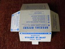 Rare~Vintage~Marson~Stamp O Mat~Vend Pack~stamp collecting~Albertson,L.I. ,N.Y.