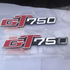 SUZUKI GT750  PAIR SIDE FRAME COVER BADGES EMBLEM KETTLE WATER BUFFALO