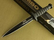 """12"""" Rambo VI Style 5.5mm Boot Dagger Survival Rubber Handle Hunting Knife 8FK128"""