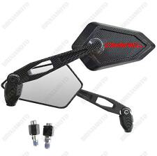 MIRRORS MIRROR STREET CARBON LOOK RED LOGO DUCATI DIAVEL CARBON DARK STRADA