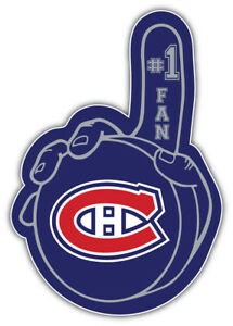 Montreal Canadiens Puck Hand NHL Sport Car Bumper Sticker Decal  ''SIZES''