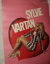 SYLVIE VARTAN AFFICHE CONCERT ANNEE 70