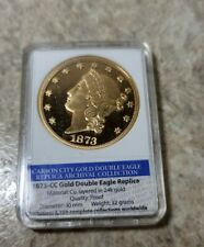 1873 Carson City CC Gold Double Eagle 24k Plated American Mint Collection