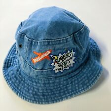Vintage Y2K Nickelodeon Rugrats In Paris Bucket Hat Denim Movie Promo Youth
