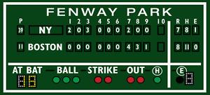 2.5' X 5.5' Green monster Boston decor, Fenway Park, Green Monster score board