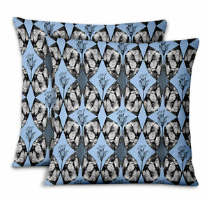 S4Sassy Abstract Designer Bed Room Pillow Cases Cushion Cover 2Pcs-DK-5B
