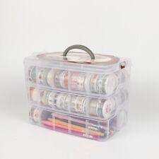Clear Craft Storage Box Washi Tape Art Supplies Sticker Stationery Organizer