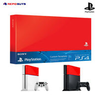 Ps4 Sony Genuine Playstation 4 Custom Red color Faceplate HDD Case Top Cover
