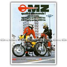 PUB MZ 125 & 250 TS TROPHY SPRINT - Original Advert / Publicité Moto de 1976