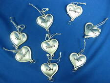 "Ganz Heart to Heart Personalized Ornament Charm-""Please inquire b4 ordering"""