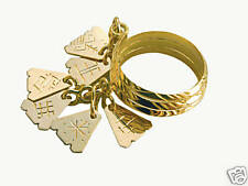 LATVIAN ethnic GOLD 7 DAY (bridal) RING from LATVIA