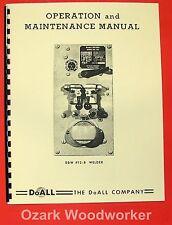 DOALL Butt Welder 128 DBW #12-B Operator & Parts Manual 0266