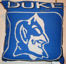 NCAA NWT 20x20  JACQUARD PILLOW - DUKE BLUE DEVILS