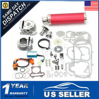 4 Stroke 100cc Big Bore Power Pack Exhaust For GY6 50cc 1P39QMB Chinese Scooter