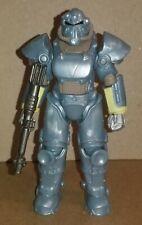 "Fallout Mega Merge Vault Tec Blue T51 Armor 4"" Scale Figure"