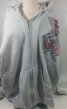 Oakley Mens Size 2XL Hoodie Zip Up Fleece Sweatshirt Jacket Sz XXLGray