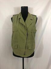 Madewell Womens Size Medium Green Cotton Front Zip Vest
