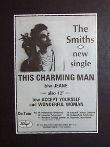 The Smiths This Charming Man 1983 Mini Poster Type Ad, Promo Advert (Morrissey)