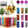 24PCS Christmas Xmas Tree Ball Bauble Home Party Ornament Hanging Decor 30mm /AN